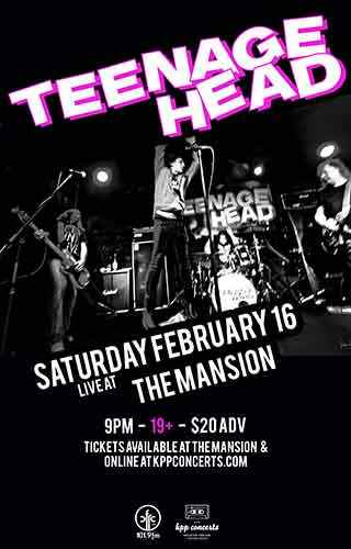 Feb. 16 - TEENAGE HEAD